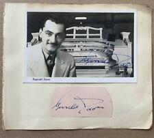 REGINALD DIXON & JACK WARNER. Genuine Handsigned Signatures.