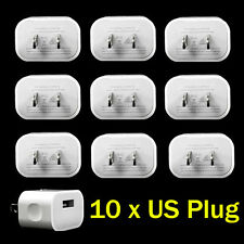 10x 5V 2A US Plug USB Wall Charger Power Adapter Cord for Apple iPhone 5 6 6Plus