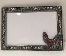 "Elsa Picture Frame Table Top For Photo 5""x 4"" With Rooster Crystals"