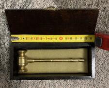 Marteau commissaire priseur «Pour les 400 coups» gavel hammer laiton 14,5cm