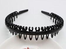 6 Blakc Plastic Comb Teeth Hair Band Headband 8mm Hair Accessories