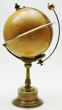 """Rare Antique """"l' empire horloge"""" terrestrial globe terrestre mystère mantel clock"""