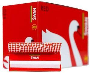 Swan Red Regular Standard Smoking Cigarette Rolling Papers - Box of 100