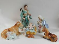 "Fitz & Floyd 5 Piece Nativity Set 2002 Retired Mint In Box (Joseph is 9 1/2"")"