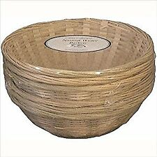 Set of 6 Catering Round Bamboo Basket