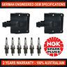 6x Genuine NGK Spark Plugs & 2x Ignition Coils for Toyota Landcruiser FZJ70/75
