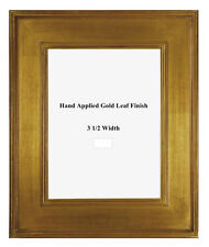 16 x 20  Arts & Crafts Style Picture Frame Hand Applied Gold Metal Leaf