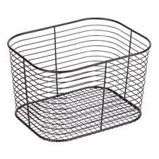 InterDesign #09737 Black Large Vanity Basket-Matte