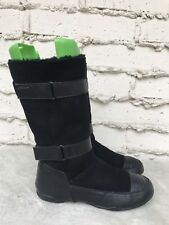 EUC DKNY Womens Black Suede & Leather Casual Winter Snow Fashion Boots US 10M