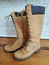 TIMBERLAND WOMEN'S 14-INCH WATERPROOF BOOTS IN WHEAT NUBUCK COLOR SIZE 8.5