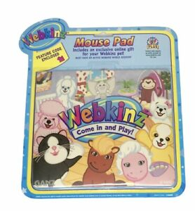 Webkinz Mouse Pad Feature Code Enclosed Cat Pink Poodle Pony Elephant Sealed