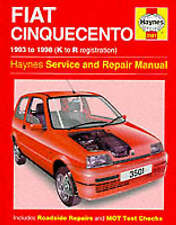 Fiat Cinquecento Haynes Service and Repair Manual K-R REG 1993 1998
