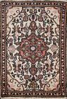 Ivory Vintage Geometric Traditional Oriental Area Rug Hand-knotted Wool 2x3 ft
