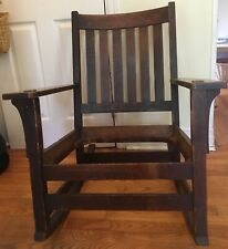 L and JG Stickley Arts and Crafts Rocking Chair. 1905-1912