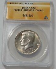 1982 P - KENNEDY Half Dollar * ANACS MS 64 FS-901 No FS