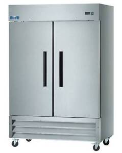 Arctic Air AF49 49cf 2 Door Stainless Steel Commercial Reach-In Freezer NEW!
