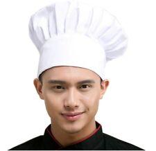 New White Adjustable Elastic Baker Kitchen Cooking Chef Hat
