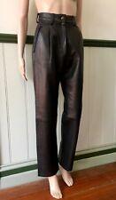 "Black Leather Pants ""Prada"" size 4 USA"