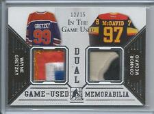 14-15 ITG Leaf Wayne Gretzky / Connor McDavid Game Used Dual Jersey Sick 12/15
