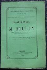 Conférences de M. BOULEY Nevers 1872 Sté d'Agricult. de la NIEVRE mal. du Bétail