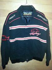 Vtg ESSEX Chevrolet NASCAR Racing Jacket Mens Large Embroidered EUC