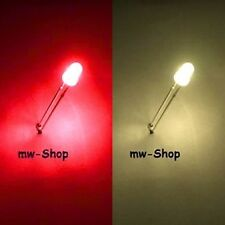 10x 3mm Leds ROT-WARMWEIß BI-COLOR 2-Chip Led 60° red sunnyweiß warm-weiß white