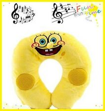 MUSIC PILLOW SPONGEBOB TRAVEL U SHAPED SOUND PLUSH PILLOW FOR IPAD IPHONE IPOD