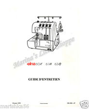 Elna 604E, 614DE, 624DSE Service Manual & Parts / SCHEMATIC on CD in PDF format
