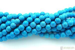 "Blue Howlite Turquoise Gemstone Round Beads 2mm 3mm 4mm 6mm 8mm 10mm 12mm 16"""