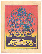 Cosmic Car Show | Delano Strike | Art by Stanley Mouse  - Orig. 1967 Handbill