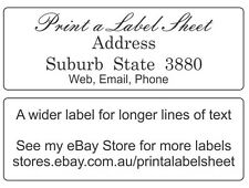 95 Personalised Return Address Labels / Stickers 58x20 mm Laser Printed