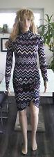 Stretchkleid Minikleid Midikleid Tunika Mehrfarbig und Größe M