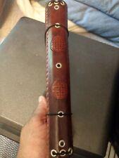 Handmade leather viking Midori Notebook with Mjolnir