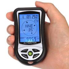 Handheld Altimeter Compass Altitude Gauge Thermometer Electronic Barometer