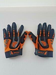 Wulfsport XS Childrens Gloves, Black & Orange Moto Cross, Motorcycle, BMX, Used