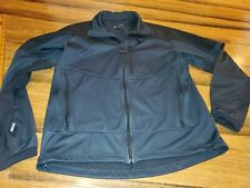 Haglofs Men's XL Black Zip Front/Pockets Windstopper Softshell Tech Coat/Jacket