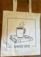Adventure Supplies Canvas Tote Bag, Grocery, Beach, Teacher Bag, Gift - Lt Gray