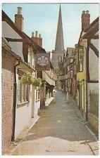 Herefordshire; Church Lane, Ledbury PPC, 1968 PMK, Shows Prince Of Wales Pub