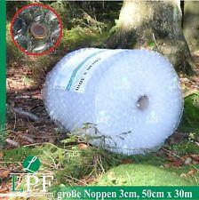 Luftpolsterfolie Große Noppen 50cm x 30m Noppenfolie Verpackungsmaterial Rolle