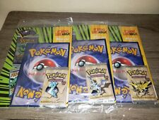 *Pokemon Topdeck Magazine Fossil Booster Pack Collection* All 3 Artworks *WOTC*