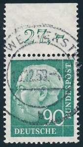 Bund Nr. 265 gestempelt mit Oberand, 90 Pfg. Heuß II (70350)