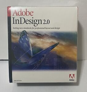 Adobe InDesign 2.0 Full Version for Mac New Factory  Sealed