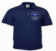 163RD ATTACK WING* MARCH ARB* CA*USAF ANG*EMBROIDERED LIGHTWEIGHT POLO SHIRT
