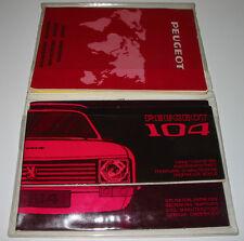 Peugeot 104 Bordmappe mit Betriebsanleitung und Kundendienstheft Stand 1974!