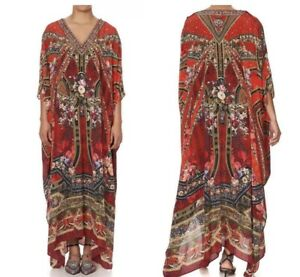 Brand New Camilla Stories Of A Station Long Kaftan With Buttons RRP $749