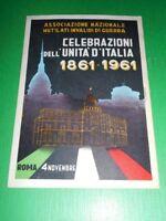 Cartolina Roma 4 Novembre - Celebrazioni Unità d' Italia 1861-1961