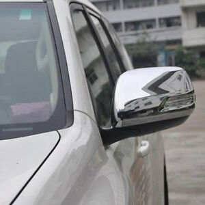 For Toyota Prado J150 2010-2018 Chrome Rearview Mirror Backup Mirror Cover trim