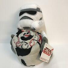 Disney Star Wars Imperial Stormtrooper Stuffed Plush Toy Hugs Throw Blanket Set