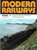 TRAINS & TRANSPORT: MODERN RAILWAYS MAGAZINE November 1972 - FAST WITH FREE P&P