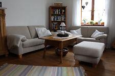Sofa, Zweisitzer, Dreisitzer, Hocker,  Beige Sand, Couch, Ewald Schilling